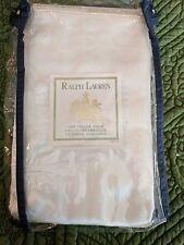 Ralph Lauren Home White Label Duchesse Silk Sham King Rare