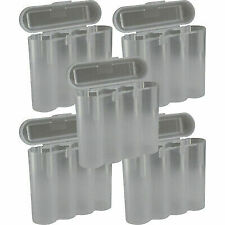 5 Clear 18650 & CR123A 4 Battery Holder Storage Case for 18650 BATTERIES
