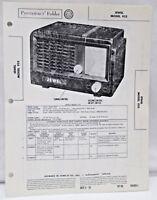 Vintage Photofact Folder Radio Parts Manual Jewel Model 955