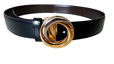 Authentic Cartier Black & Brown leather belt _  Women's Trinity Belt [USED]