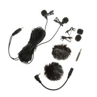 Dual-Headed Lavalier Lapel Clip on Omni directional Condenser Microphone