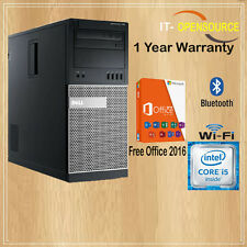 FAST DELL Quad CORE i5 PC COMPUTER DESKTOP TOWER WINDOWS 10 WIFI 8GB RAM 1000GB