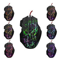 5500 DPI 7 Tasten-LED-optische USB-Maus-Mäuse mit Kabel für Pro Gamer PC  YB