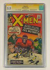 X-MEN #4 Marvel Comics STAN LEE Signed 1964 CGC 5.5 Magneto 2nd Appearance