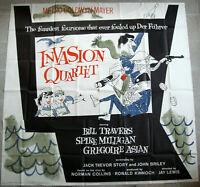 "INVASION QUARTET 81x81"" Travers Six sheet Billboard US Movie poster Film 1961 VF"
