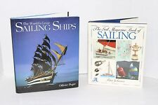Lot of 2 Large HC The World's Great Sailing Ships Sail Magazine Book of Sailing