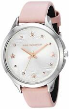KARL LAGERFELD Women's 38mm Karoline Silver Tone Pink Leather Watch KL3012 NEW!