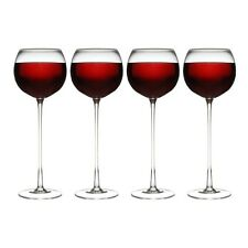 Set of 4 LONG Stemmed WINE GLASSES Novelty Drinkware Glassware Parties Events
