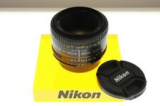 Nikon AF-Nikkor 50mm f/1.8 D auto focus standard lens. EXC++ condition.