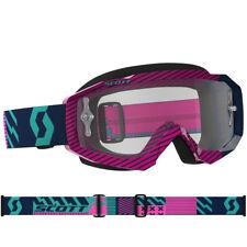 Scott Mx Hustle Gafas de Motocross Azul/rosa con transparente compatible Lente