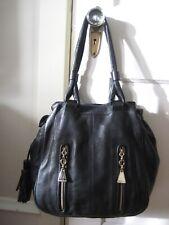 SEE BY CHLOE Black Leather Satchel Shoulder Bag