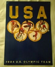 US Olympic Team Contributor Poster 20x27 1/2 Ren Wick Frank Lacommare Rare!!!