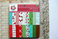 """CHRISTMAS """"HOLIDAY"""" - 18 Designs 2 of Each Single Sided Heavy Cardstock 6x6Pk AC"""
