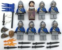 Lego 8 New Kingdoms Castle Crown Knights Minifigures King Queen Shields Swords