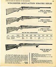 1969 Print Ad of Winchester Model 121 Standard Deluxe & Youth, Model 52D Rifle