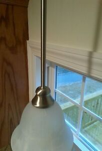 """One 12""""Pendant Extension Rod,  asst finishes. Chrome, satin nickel, ebony, brown"""