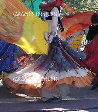 Silver Jaipur Wrap Skirt Gypsy Tribal Fusion Belly Dancel ATS Nawaar