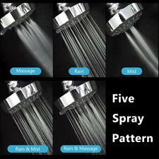 Shower Head High Pressure 4 Inch 5-setting Adjustable Shower Head Top Spray