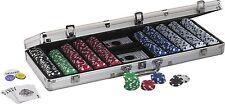 Fat Cat Hold'em Dealer Poker Chip Set  In Case 500 Chips Professional Casino New