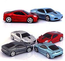 Reino Unido 2.4 ghz Wireless 3d 1600dpi coches Ferrari forma Ratón Óptico Usb De 4 Colores