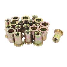 20Pcs Zinc Plated Carbon Steel Rivet Nut Rivnut Insert Nutsert 1/4-20 V9F7
