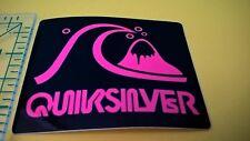 Pink Quiksilver logo sticker