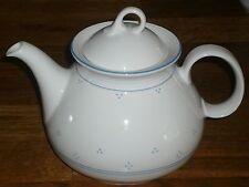 Teekanne + Deckel  1,1 L    Seltmann Weiden  43804  Blaue Streifen ,  Punkte