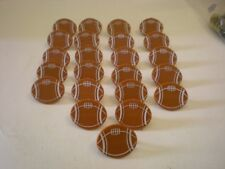 Bakery Crafts Football Cupcake Ring Toppers