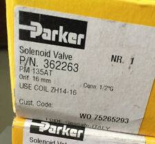 NEW PARKER SOLENOID VALVE 24V COIL BRASS HOUSING 362263 AND CONNECTOR 1/2 G