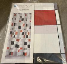 Saturday Knight Peva Vinyl Shower Curtain Modern Stained Glass 70 x 72 New