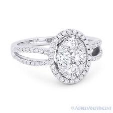 18k White Gold Right-Hand Fashion Ring 1.05 ct Round Brilliant Cut Diamond Pave