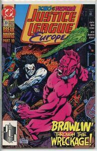 Justice League Europe 1989 series # 33 near mint comic book