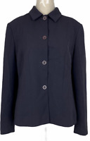 David Lawrence Womens Black 4 Button Fully Lined Corporate Jacket Size 14
