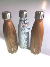 Water Bottles Stainless Steel Bullet Flask Decor Single Wall 680ml Set Of 3