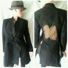 $1495 New Claire Kane Bergdorf Goodman Black Avant Garde Coat Jacket 8 10 42 Eu