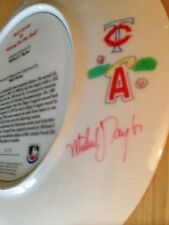 RARE Artist Taylor Remarked - Rod Carew Angels Twins Gartlan Autographed Plate