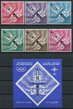 69/Space Raumfahrt 1965 JORDANIEN JORDAN Raumflug Olympics 550-55 + Block 28 MNH