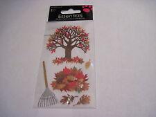 Scrapbooking Crafts Sandylion Stickers Fall Autumn Tree Leaves Rake