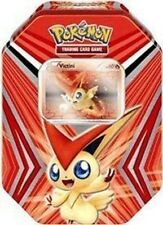 Pokemon TCG Victini Collectors Tin Kit box, Figure, Booster packs, Online Code