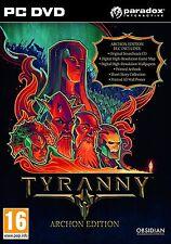 Tyranny Archon Edition (PC DVD) NEW & Sealed