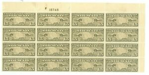 US-C8 15c SHEET OF 16 issued 1926-27 PLT# 18748 MINT NEVER HINGED