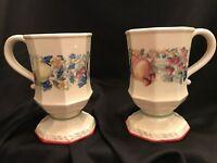 Avon Sweet Country Harvest Ceramic Coffee Cup Mug Pedestal Foot Fruit Design '80