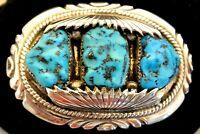 Jude candelaria turquoise buckel w inlay snake eyes