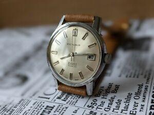 Gents Vintage Excalibur Automatic 25 Jewels Sunburst Dial Watch - Working