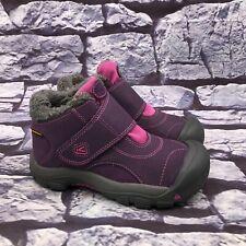 Keen Kootenay Girls Kids Purple Pink Waterproof Winter Snow Boot Youth Size 1