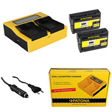 2x Batteria Patona + caricabatteria rapido DUAL LCD per Nikon MB-D14,MB-D15,Z6