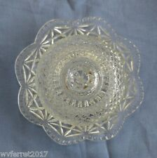 AVON Glass Bell Jar - Lidded Plate - Pressed Glass