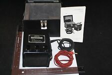 J F C MINI 500 OHM METER HAND GENERATED CASE INSTRUCTIONS INSULATION RESISTANCE