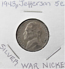 "1943-P SILVER WAR 5C JEFFERSON NICKEL ""'REVERSE LAMINATION"""