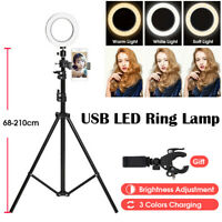 210CM Studio LED Ring Light Dimmable Video Live Camera Stand Tripod Extendable